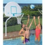 inground swimming pool basketball goal