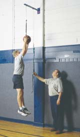 Pull Down Rebounder Basketball Training Aid