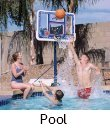 swimming pool basketball